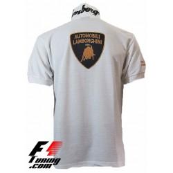 Polo Lamborghini Team Racewear blanc