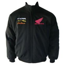 Blouson Honda Team CBR 900RR Fire Blade moto couleur noir
