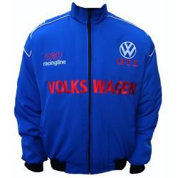 Blouson Volkswagen Team Racing sport mécanique couleur bleu