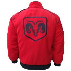 Blouson Dodge Team sport mécanique couleur rouge