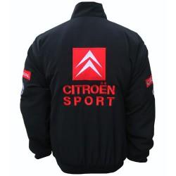Blouson Citroen Racing Team sport mécanique couleur noir