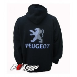 Hoodie PEUGEOT sweat à capuche zippé en cotton molletonné