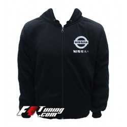 Hoodie NISSAN sweat à capuche zippé en cotton molletonné