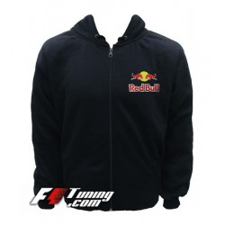 Hoodie RED BULL sweat à capuche zippé en cotton molletonné