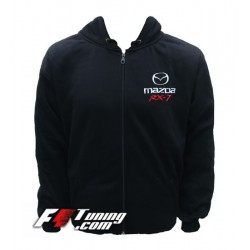 Hoodie MAZDA sweat à capuche zippé en cotton molletonné