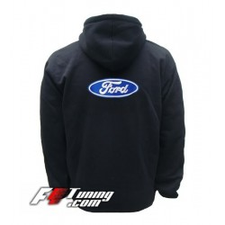 Hoodie FORD sweat à capuche zippé en cotton molletonné