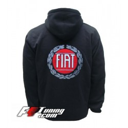 Hoodie FIAT sweat à capuche zippé en cotton molletonné