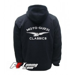 Hoodie MOTO GUZZI sweat à capuche zippé en cotton molletonné
