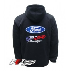 Hoodie FORD MUSTANG sweat à capuche zippé en cotton molletonné