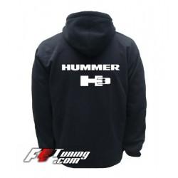 Hoodie HUMMER H3 sweat à capuche zippé en cotton molletonné