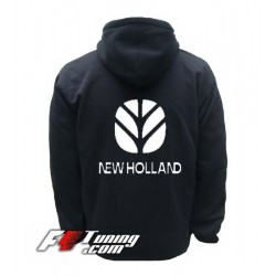 Hoodie NEW HOLLAND sweat à capuche zippé en cotton molletonné