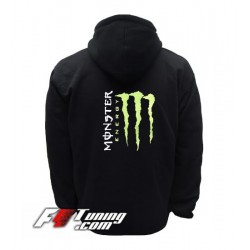Hoodie MONSTER ENERGY sweat à capuche zippé en cotton molletonné