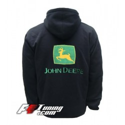Hoodie JOHN DEERE sweat à capuche zippé en cotton molletonné