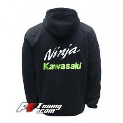 Hoodie KAWASAKI NINJA sweat à capuche zippé en cotton molletonné