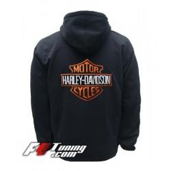 Hoodie HARLEY DAVIDSON sweat à capuche zippé en cotton molletonné