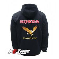 Hoodie HONDA GOLDWING sweat à capuche zippé en cotton molletonné