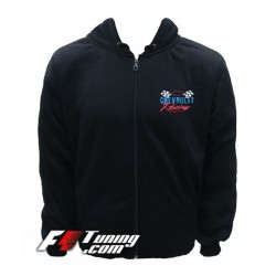 Hoodie CHEVROLET sweat à capuche zippé en cotton molletonné