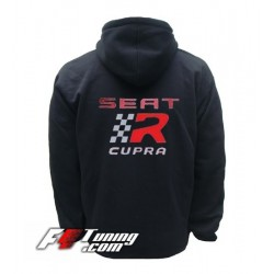 Hoodie SEAT CUPRA sweat à capuche zippé en cotton molletonné