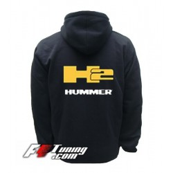 Hoodie HUMMER H2 sweat à capuche zippé en cotton molletonné