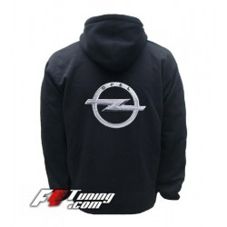 Hoodie OPEL sweat à capuche zippé en cotton molletonné