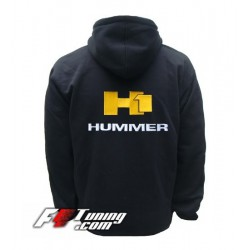 Hoodie HUMMER H1 sweat à capuche zippé en cotton molletonné