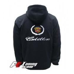 Hoodie CADILLAC sweat à capuche zippé en cotton molletonné