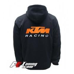 Hoodie KTM sweat à capuche zippé en cotton molletonné