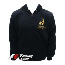 Hoodie LAMBORGHINI sweat à capuche zippé en cotton molletonné