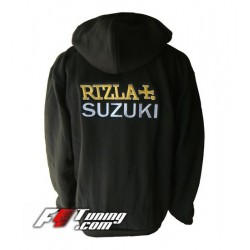 Hoodie SUZUKI RIZZLA+ sweat à capuche zippé en cotton molletonné