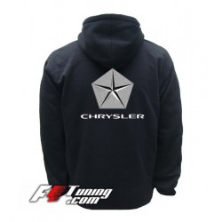 Hoodie CHRYSLER sweat à capuche zippé en cotton molletonné