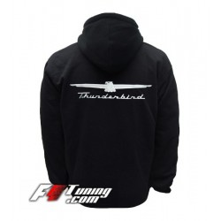 Hoodie FORD THUNDERBIRD sweat à capuche zippé en cotton molletonné