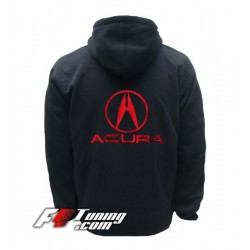 Hoodie ACURA sweat à capuche zippé en cotton molletonné