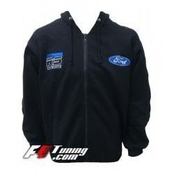 Hoodie FORD COSWORTH sweat à capuche zippé en cotton molletonné