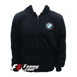 Hoodie BMW sweat à capuche zippé en cotton molletonné