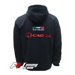 Hoodie CAGIVA sweat à capuche zippé en cotton molletonné