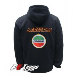 Hoodie LAVERDA sweat à capuche zippé en cotton molletonné
