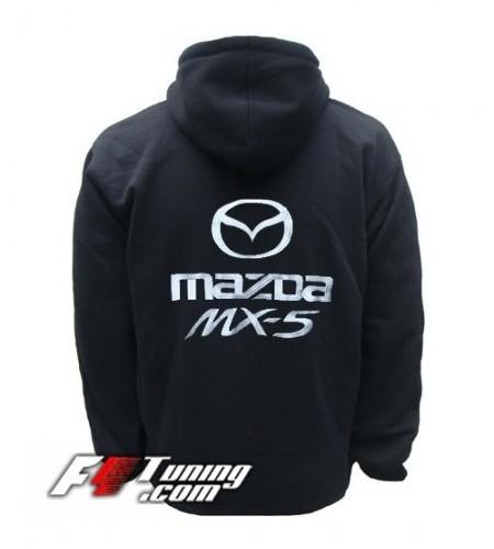 Hoodie MAZDA sweat à capuche zippé en cotton molletonné