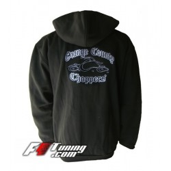 Hoodie ORANGE COUNTY CHOPPERS sweat à capuche zippé en cotton molletonné