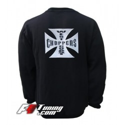 Pull WEST COAST CHOPPERS sweat en cotton molletonné