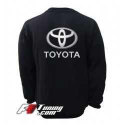 Pull TOYOTA sweat en cotton molletonné