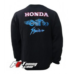 Pull HONDA SHADOW sweat en cotton molletonné