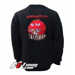 Pull KYLE BUSCH (Nascar) sweat en cotton molletonné