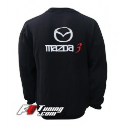 Pull MAZDA sweat en cotton molletonné