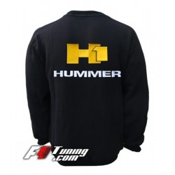 Pull HUMMER sweat en cotton molletonné