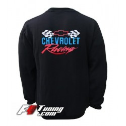 Pull CHEVROLET sweat en cotton molletonné