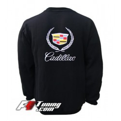 Pull CADILLAC sweat en cotton molletonné