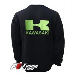 Pull KAWASAKI sweat en cotton molletonné