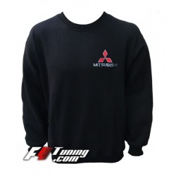 Pull MITSUBISHI sweat en cotton molletonné