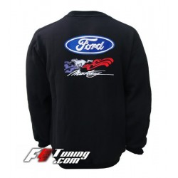 Pull FORD MUSTANG sweat en cotton molletonné
