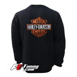 Pull HARLEY DAVIDSON sweat en cotton molletonné